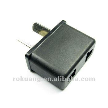 Adapter Plug - Australia & New Zealand - Black Angled Polarized ...
