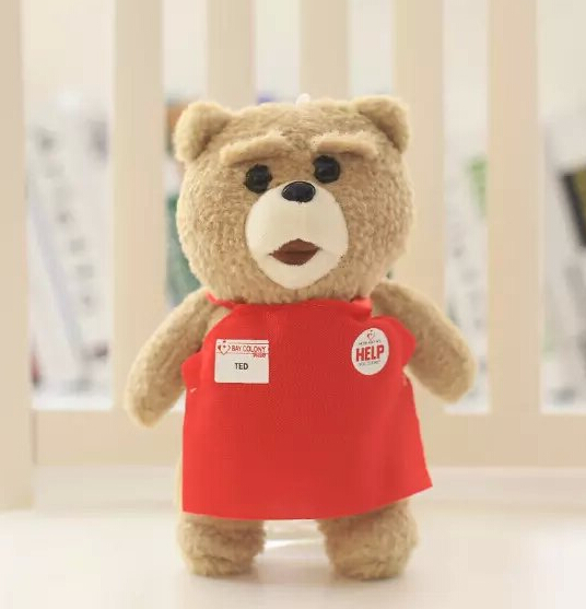 1pc 8' 20cm Movie Teddy Bear Teddy 2 Plush Toy Stuffed Plush Doll Kids Toy Birthday Gift Car Decoration