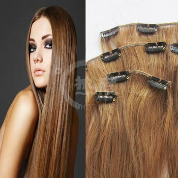 New style clip in hair extension human hair weave blond color for new style clip in hair extension human hair weave blond color for white women pmusecretfo Choice Image