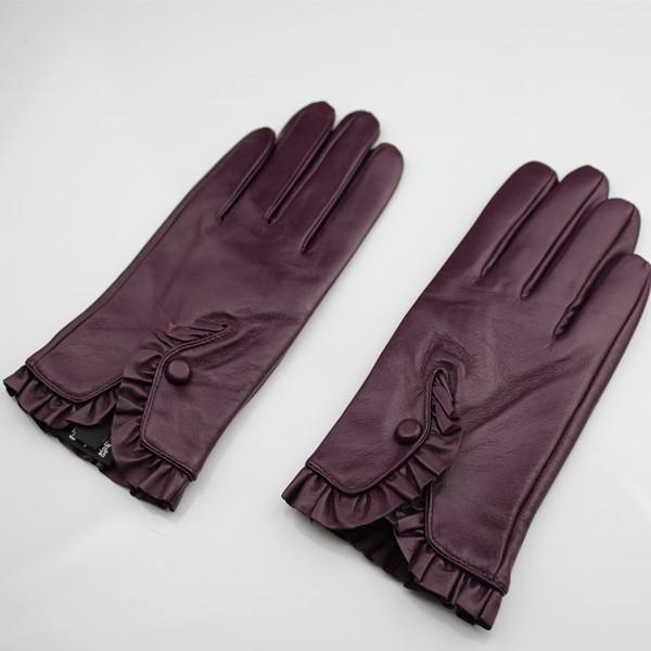 girls fashion sexy colorful warm winter leather glove