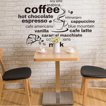 cheap coffee shop wall sticker for decoration - buy removable wall