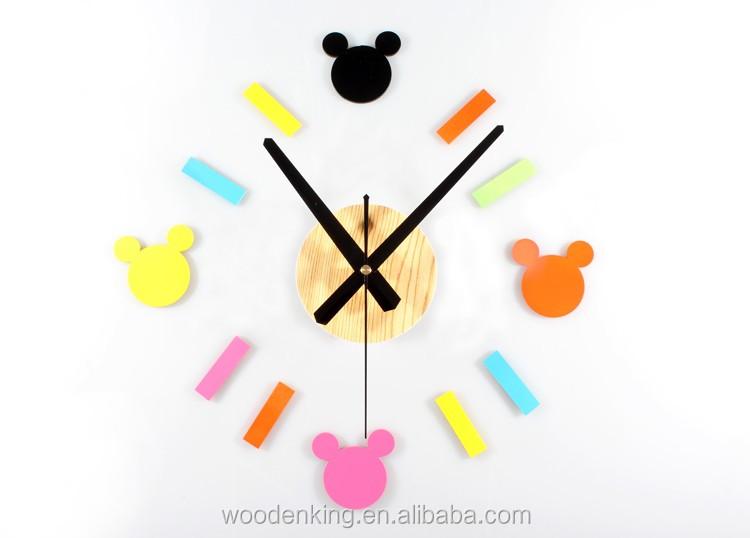 Klasik Karikatur Yaratici Moda Mickey Mouse Diy Saat Kombinasyonu
