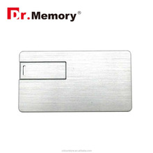Dr.memory Credit Card Metal USB Flash Card Customized Personalized Logo Pendrive Specifical Bank Card Pen Drive 4GB 8GB 16GB 32G