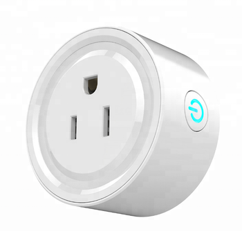 Good Performance US standard round alexa google assistant WIFI smart power plug