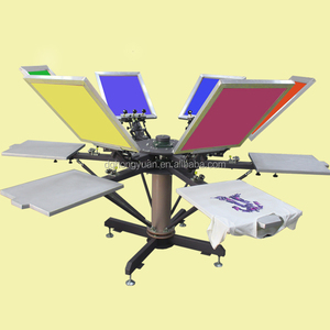 Manual Screen Printing T Shirt Equipment, T-Shirt Screen Printing Press