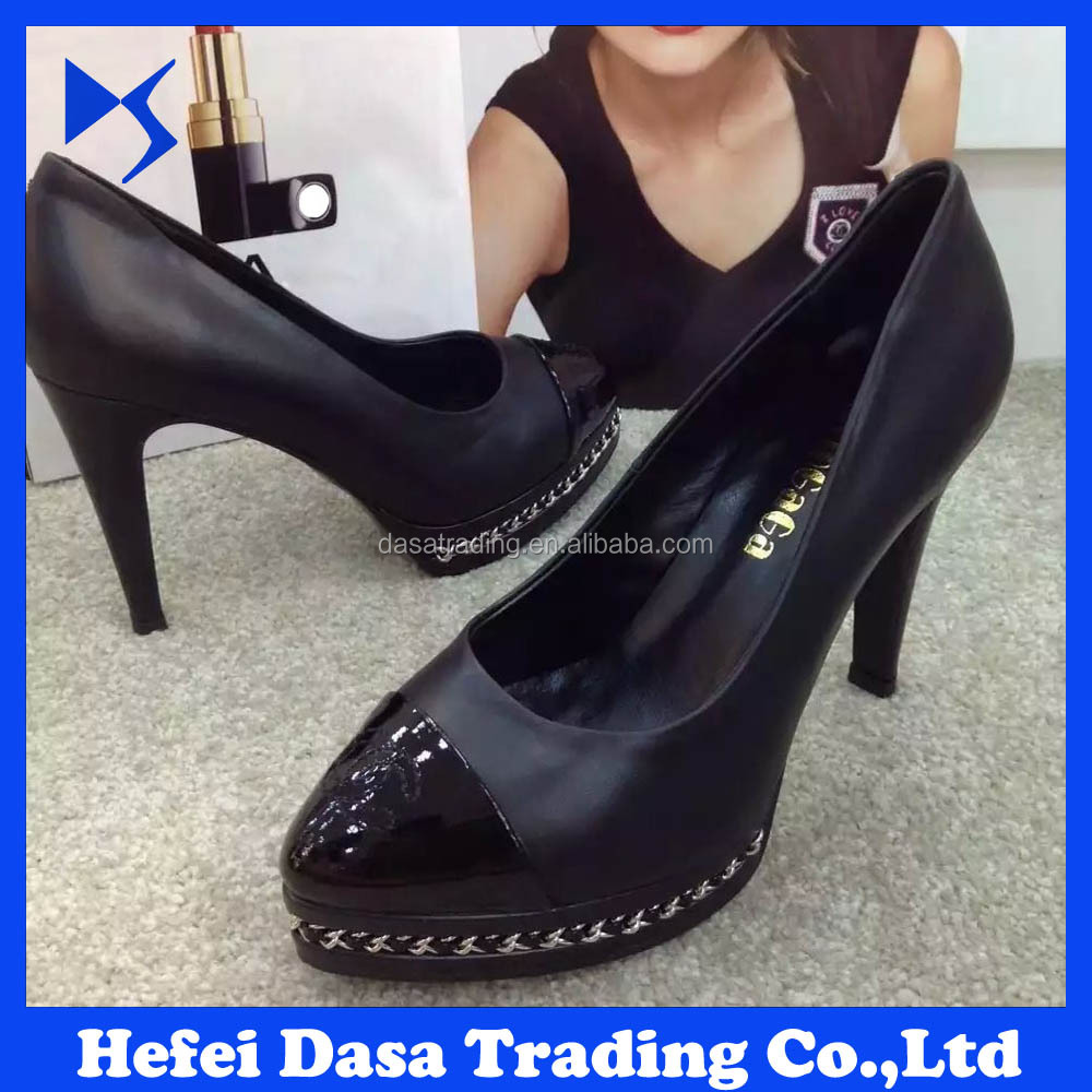 Factory Price Fashion High <strong>Heels</strong> 2016 New Style Woman Shoes Wholesale Pumps DS-SH006