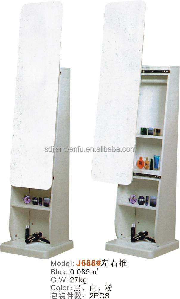 Oval Shaped Antique Wood Bedroom Floor Mirror J668 - Buy Floor ...
