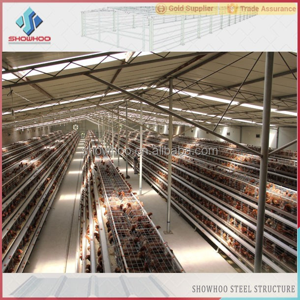 100 Meters Construction Steel Broiler Poultry Farm House