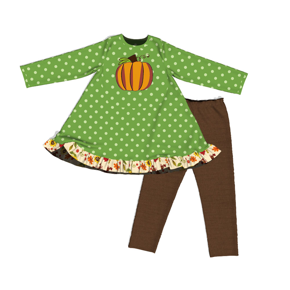 Original design OEM custom girl Thanksgiving clothes boutique clothing