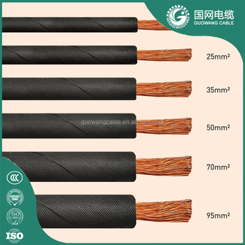 300amp Rubber Coated Electrical Wire Colored Welding Cable 70 95 120 Mm