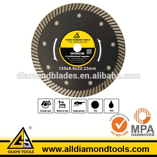 125mm Diamond Turbo Rim Saw Blade for Marble Granite