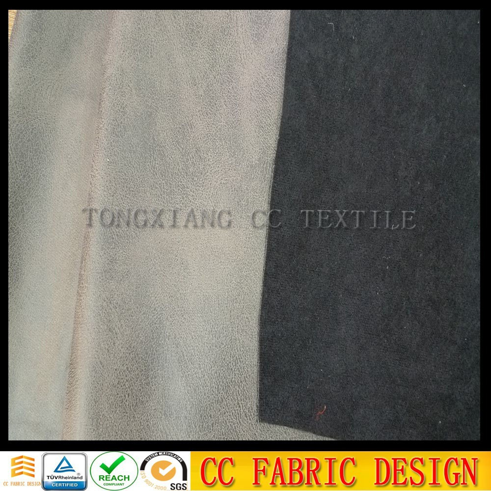 Synthetic artificial suede fabric with coating fabric for sofa,chair, shoes fabric