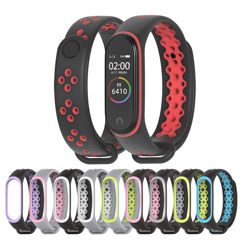 Mijobs Sport Mi Band 4 Band Siliconen polsband voor Xiaomi mi band 4 miband 3
