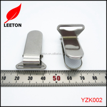 Factory supply stainless steel metal suspender clip with plastic insert