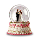 Resin 100mm romantic snowflake wedding souvenirs gifts favors dancing couple snow globe