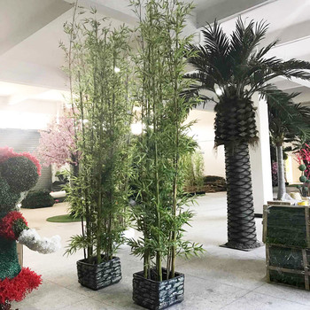 Bambu Buatan Pagar Bambu Daun Bambu Pohon Palsu Buatan Untuk Rumah Dekorasi Taman Buy Tanaman Bambu Untuk Dijualdalam Ruangan Rumah Dekorasi