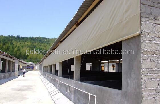 poultry commercial chicken house, environmental controlled poultry shed curtain