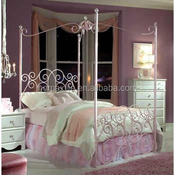 Furniture Princess Decorating Canopy Bed In Pink Metal & Furniture Princess Decorating Canopy Bed In Pink Metal - Buy ...