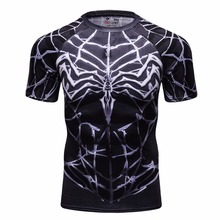Custom Heren Kleding Digital Printing Spiderman Fitness <span class=keywords><strong>T-shirt</strong></span>