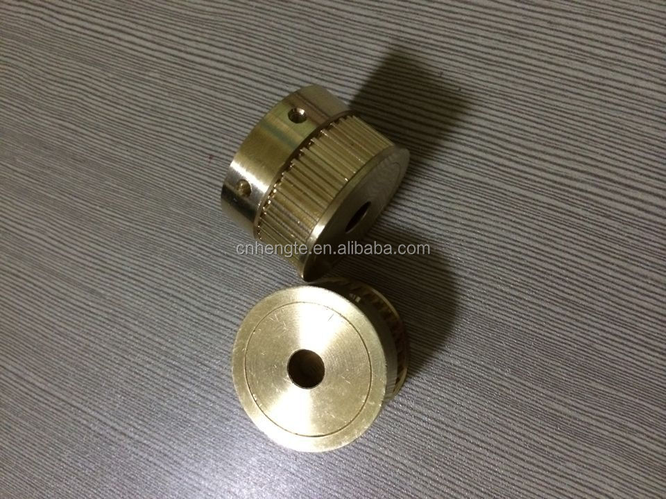 S3M yellow brass small pulley(free anodized and screws installed)