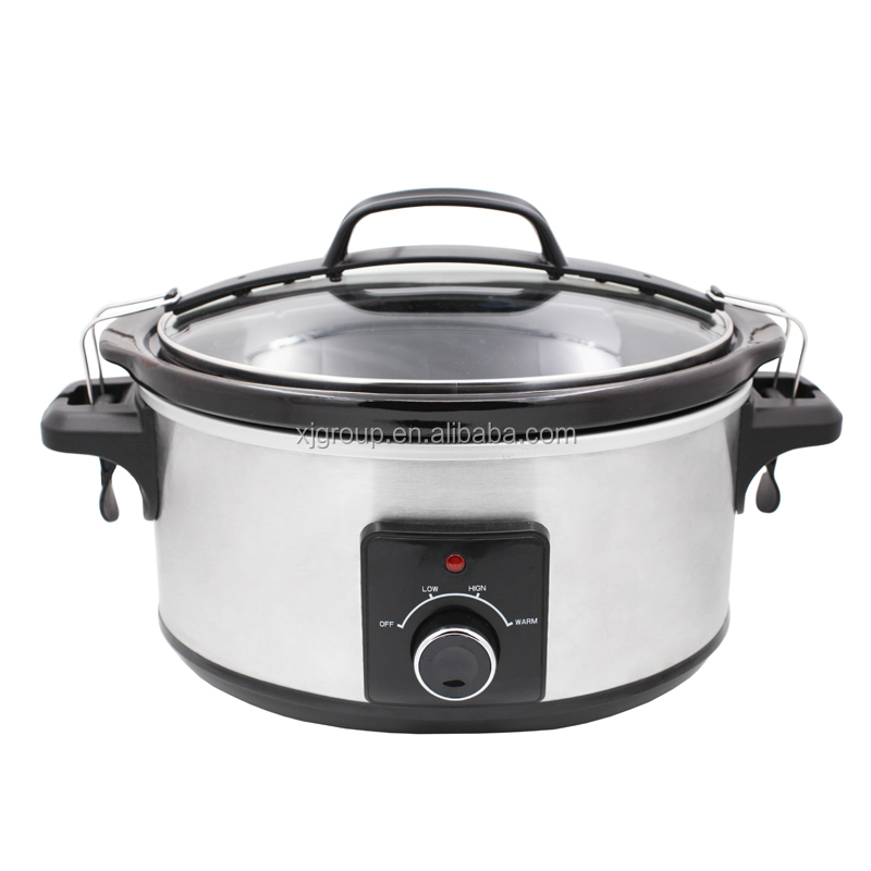 Removable oval stoneware with 5.5L capacity electric slow cooker 22820