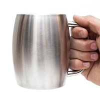Factory wholesale stainless steel custom coffee glass beer mug