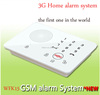 Touch keypad gsm wireless home house intruder yard security alarm system with beam and fence detector