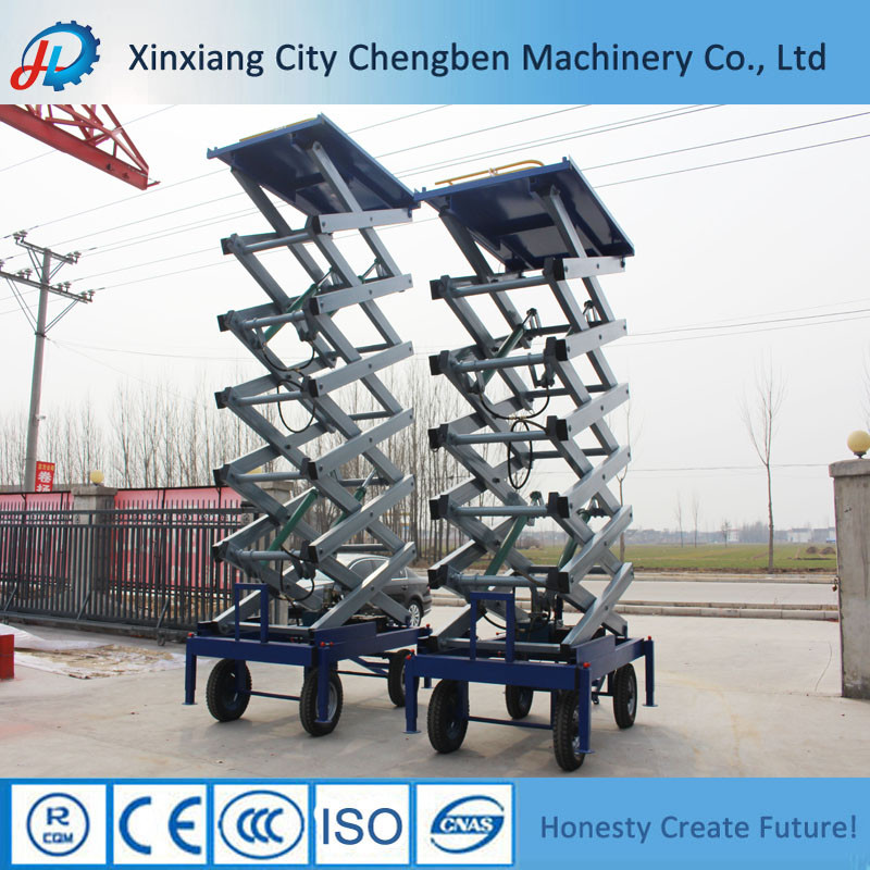 Functional Working Height Mobile Scissor Lifter for Hot Sale