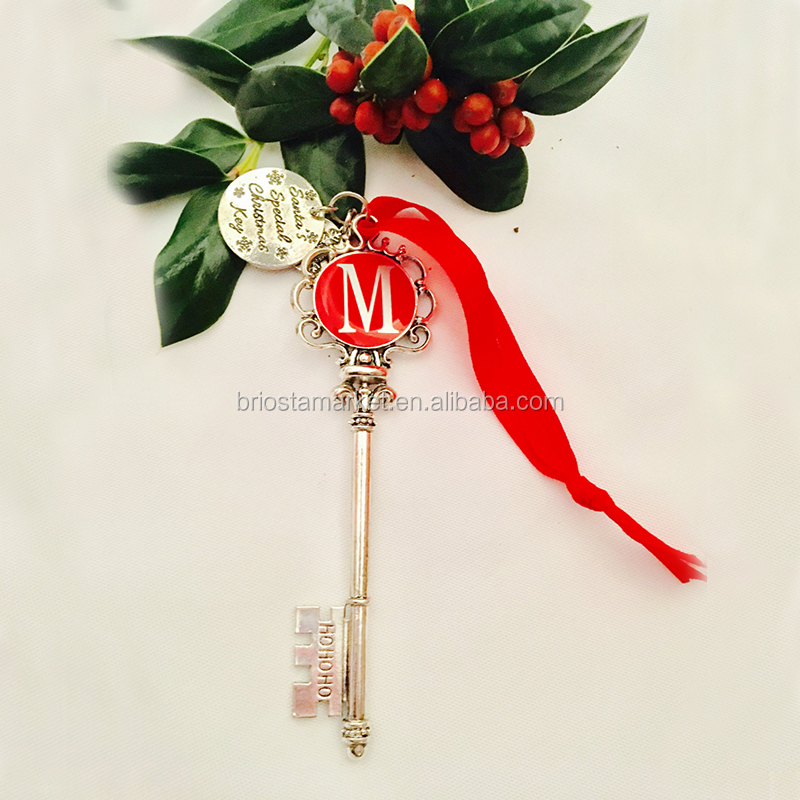 Personalized Christmas Ornament Santa Magic Key