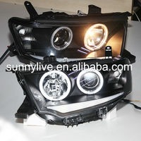 For Mitsubishi Pajero Sport Montero Sport Nativa Pajero Dakar CCFL Angel Eyes Head Lamp 2009-2014 year SN