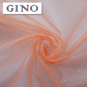 Orange Tulle With Glitter For Latest Dress Designs