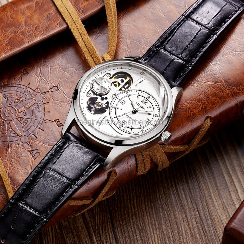 wholesale china made good genuine leather men watches luxury
