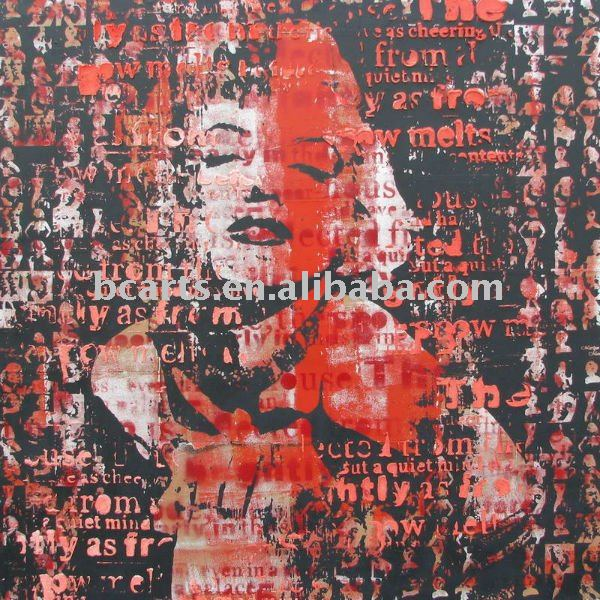 abstrat design marilyn monroe canvas painting