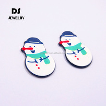 2017 new design flashing christmas jewelry snowman brooch
