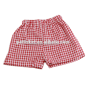 Children Summer Icing Pants Wholesale Kids Girl Red Gingham Short Pants Baby Girls Plaid Leggings