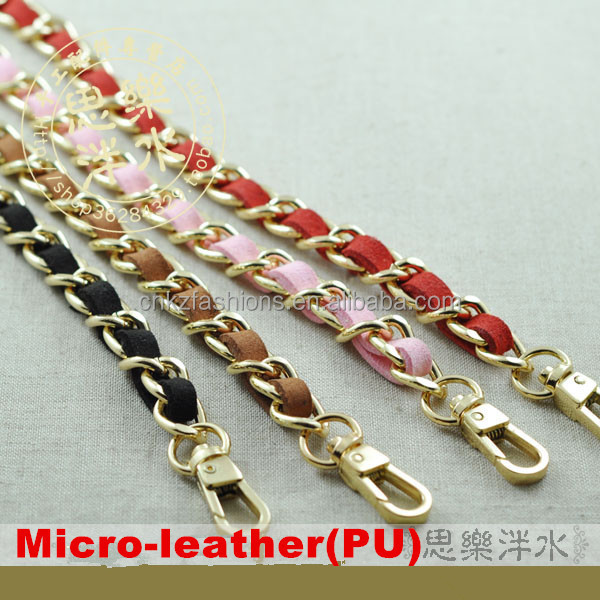 7d9c00b61a8c9 PURSE SHOULDER CROSSBODY CHAIN STRAP DIY PU LEATHER REPLACEMENT BAG HANDBAG  GOLD CHAIN