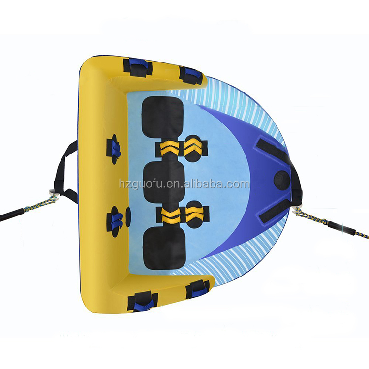 High Speed Affordable and Wholesale 3 RiderInflatable Towable Water Tube with High Quality