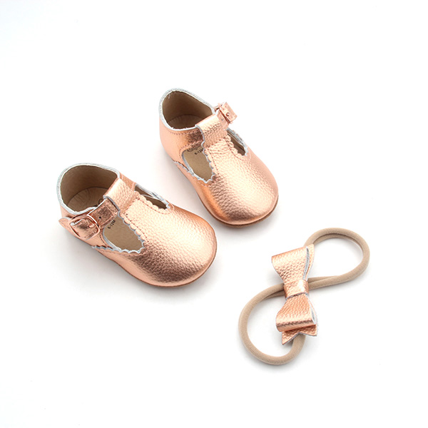 Girls Boys Baby T Strap Shoes Leather Toddler Moccasins