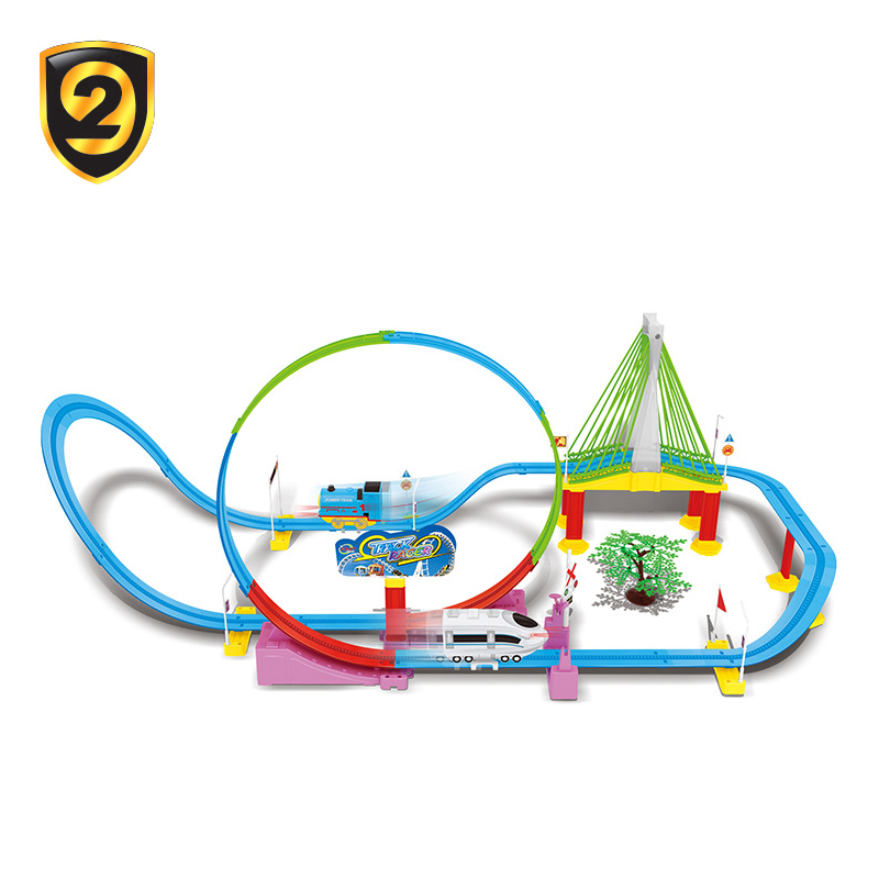 New product plastic magic track car toys children toy slot car track