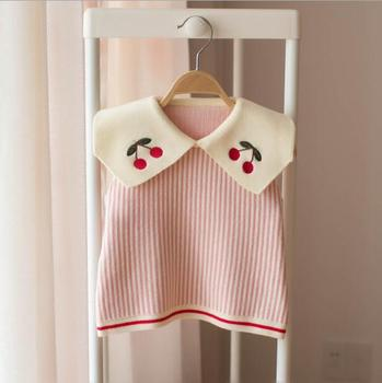 Baby Girls Sweater Vest 2019 Fashion Children Sleeveless Clothes For girl Kids Knit Waistcoat 0-5 Years Infant Knitwear Costume