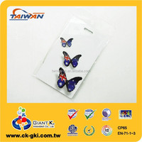 PVC Plastic Luggage Tag for promotional gift butterfly