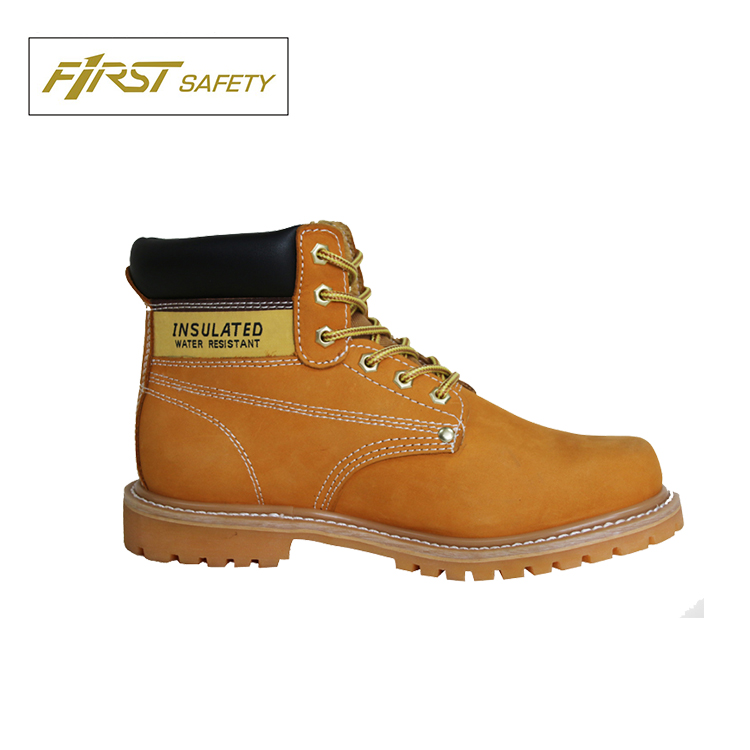 FS1300 Genuine Nubuck Leather Rubber Outsole Cheap Safety Work Boots