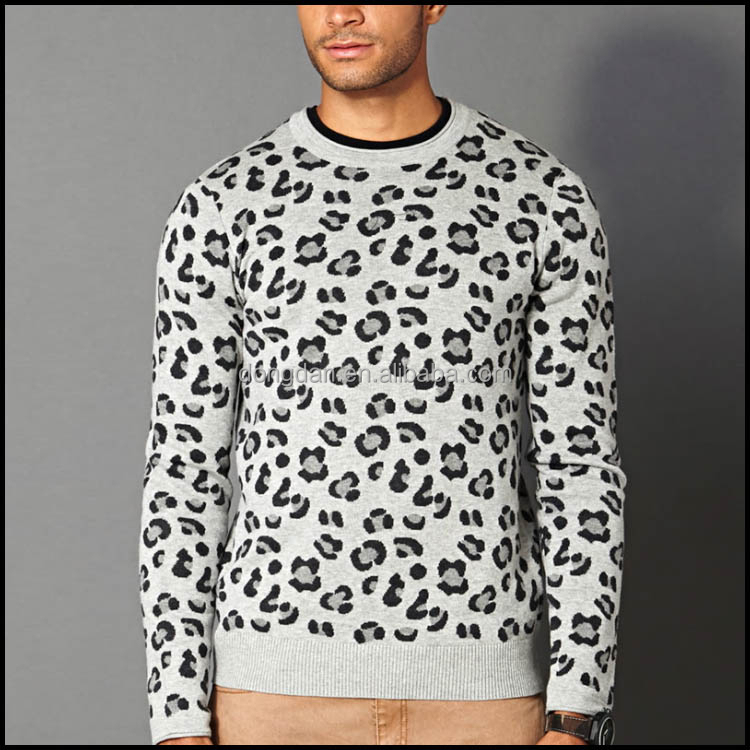 Sexy Leopard men sweatshirt hoodie without hood custom all over sweatshirt printing