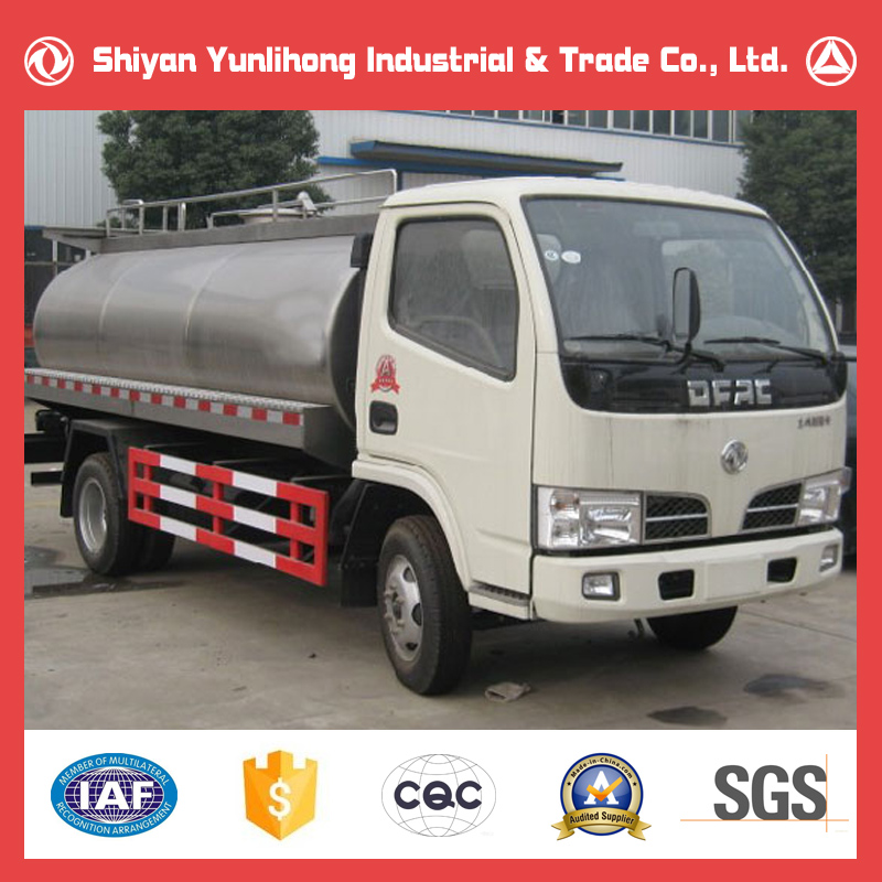 Dongfeng 4x2 3T Transport Milk Truck Tanker/Stainless Tank