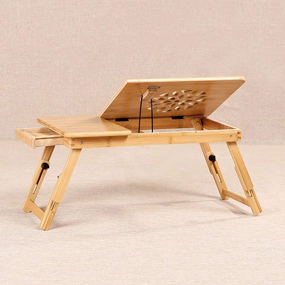 Tables Adjustable Laptop Stand Bed Table, Foldable Sofa Breakfast Tray, Quality Notebook Stand, USB Fan Foldable Breakfast Serving Bed Tray ,play Games On Bed Table With Drawer ( Size : B )