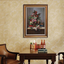 Wholesale handpainted noble classical flower decorative oil painting on canvas