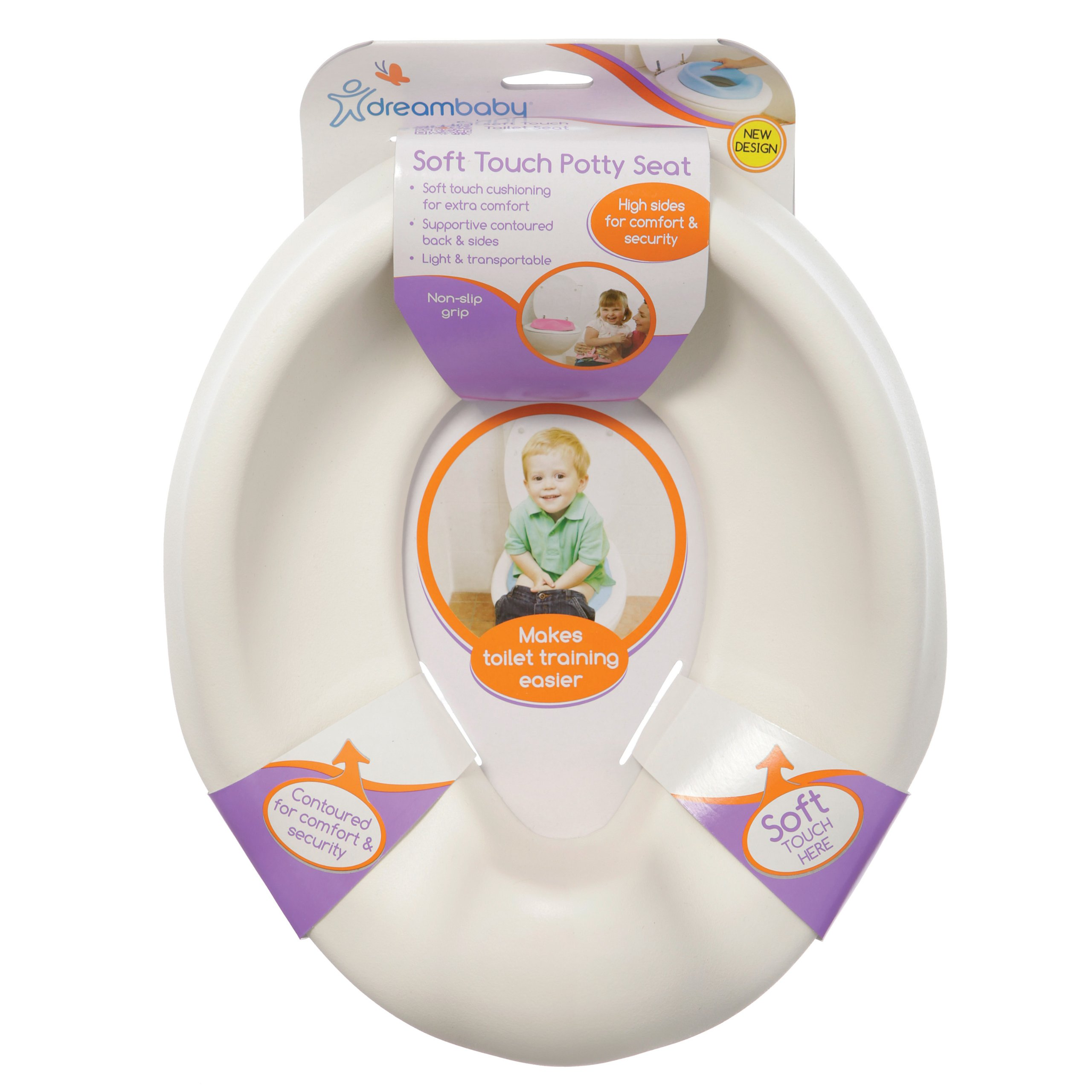 Dreambaby Soft Touch Potty Seat, White