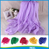 summer wholesale solid color chiffon scarf