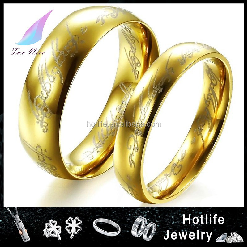 Factory Direct Price 24k Gold Wedding Ring Classic Couples Wedding