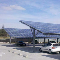Solar ground car parking system carport mounting bracket structures